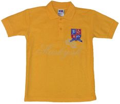 Polo shirt short sleeves gold 53934
